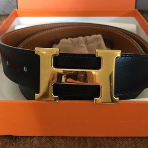 Hermes Accessories - Hermes Reversible black/brown belt