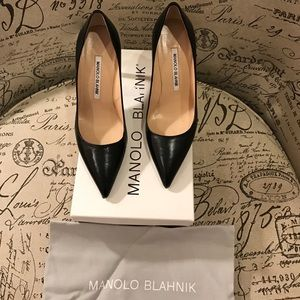 Manolo Blahnik* Black* BB*