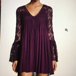 Romeo and Juliet Couture Purple Lace Dress