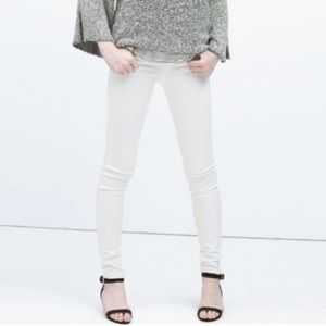 ZARA TRF White Denim