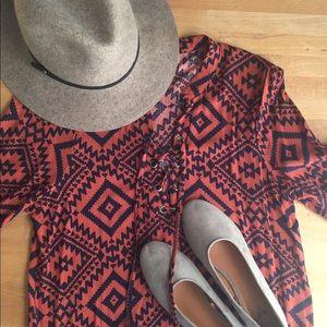 Lace up shirt dress and blazer bundle