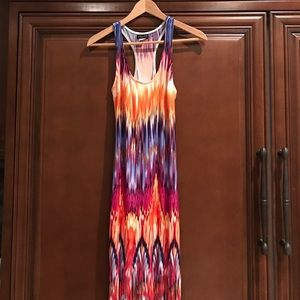 venus Dresses & Skirts - Fringe Maxi Tie dye rainbow sun dress XS Venus