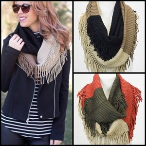 Accessories - Color Block Infinity Scarf 2 Colors