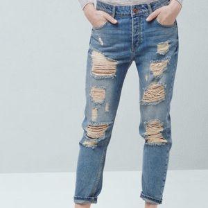 Mango Denim - Mango Ripped Angie Jeans