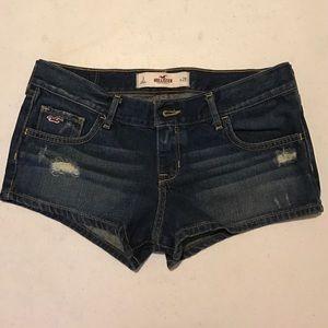 Hollister distressed Jean short shorts