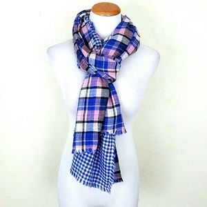 American Colors Accessories - 100% Cotton Plaid Reversible Scarf