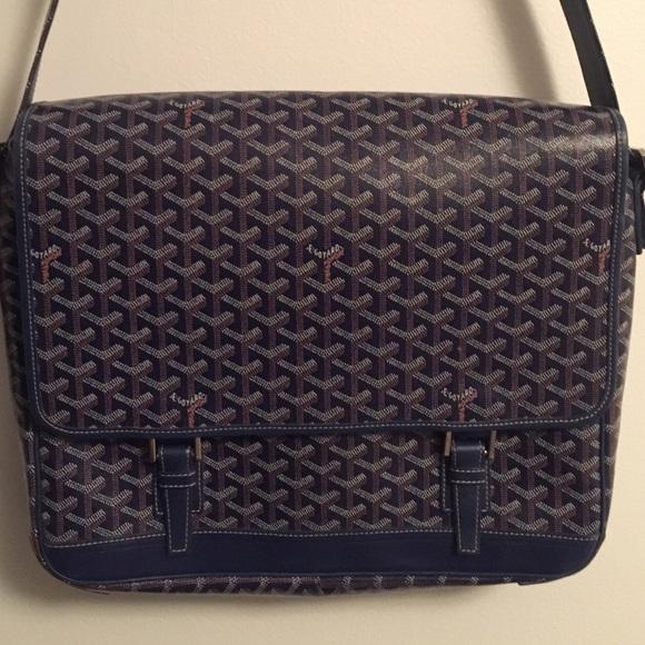 Goyard Handbags - GOYARD Messenger Bag blue 2 buckle Coated canvas 7282bcfab0715