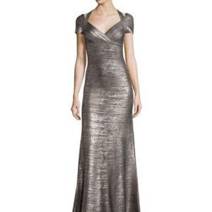 Herve Leger Dresses & Skirts - Herve Leger Colette Foil Bandage Gown, Gunmetal