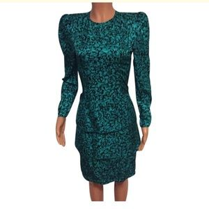 Maggy London Dresses & Skirts - Maggy London Vintage Turquoise/Black Dress size 4