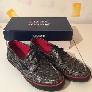 Sperry Shoes - Sperry Top Sider Bahama Graphite Leopard