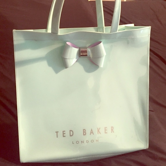 f1989c015a7 Baker by Ted Baker Handbags - Authentic Ted Baker Plastic Large Mint/Silver  Tote