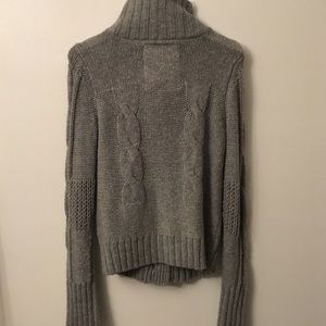 American Eagle Outfitters Sweaters - Grey Knitted High Neck Sweater