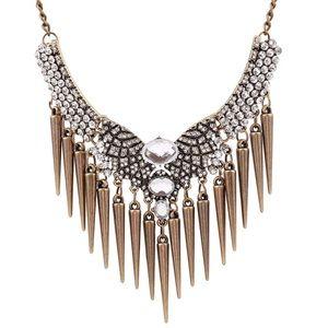 Jewelry - Rhinestones & Rivets Hot Punk Statement Necklace
