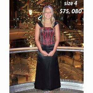 floor length, corset formal dress