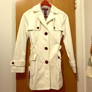 Banana Republic White Trench Coat