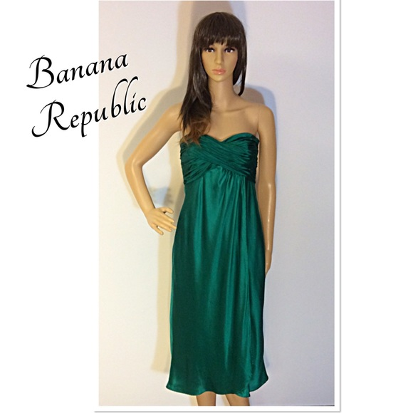 Banana Republic Wedding Dresses: BANANA REPUBLIC EMERALD GREEN FORMAL