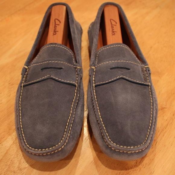 3968663216b53 Prada Shoes | Blue Suede Driver | Poshmark