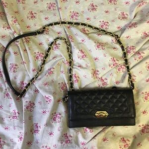 Handbags - Formal Occasion Black and Gold Purse
