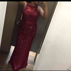 Size large beautiful red prom dress. Worn once