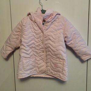 Emile et Rose Other - Adorable pink quilted jacket with removable hood