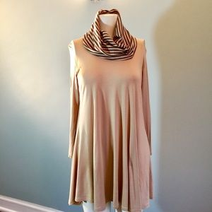 Pastels Clothing Tops - Cowlneck Swing Tunic