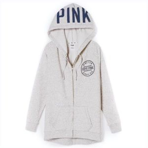 PINK Victoria's Secret Sweaters - 🌹HP 🆕 Victoria's Secret PINK Hoodie Boyfriend XS