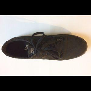 mens black leather vans size 10
