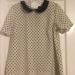 Merona Polka dot blouse with collar