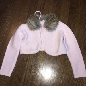 Tartine et Chocolat Other - New Tartine Et Chocolat pink sweater w-fur collar