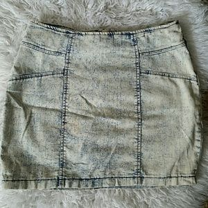 Dresses & Skirts - Stone washed denim mini skirt