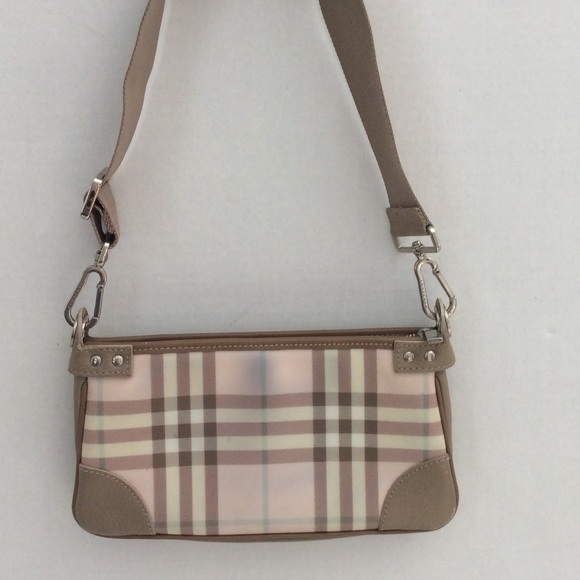 9f8aa8022827 Burberry Handbags - Burberry Pink Nova Check Small Shoulder Bag