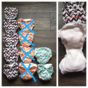Other - EUC - THX Style Newborn AIO Cloth Diapers