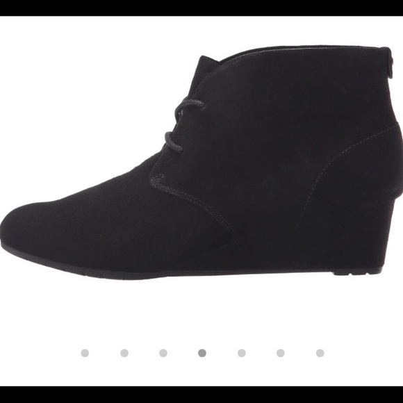 076881e457a Clarks Shoes - Clarks Artisan black suede wedge boots