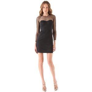 Milly mesh/satin cocktail dress