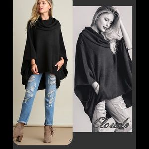 Cloud 9 Tops - New Arrival~ Comfy Chic Sweater Poncho🍃