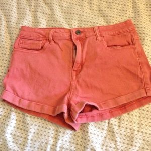 28 waist forever 21 high waited red shorts