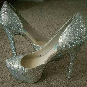 Betsey Johnson Blue Heels