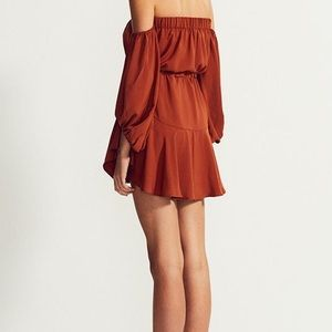 e5003f70586 Shona Joy Dresses - Shona Joy Core Off the Shoulder Mini Dress in Rust