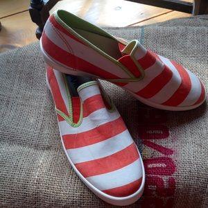 SeaVees Shoes - Seavees orange and white deck shoes size 8 1/2