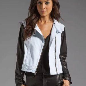 Rag & Bone Bleach Out leather sleeve jacket