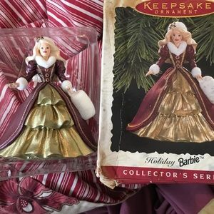 Barbie Accessories - Barbie and Hallmark Collectible Barbie Ornament