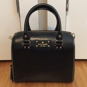 Rare Kate Spade Wellesley black leather satchel.