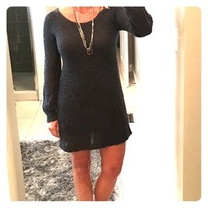 Anthropologie grey sweater dress SALE