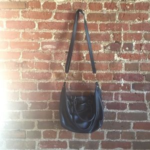 H&M black (faux) leather bag