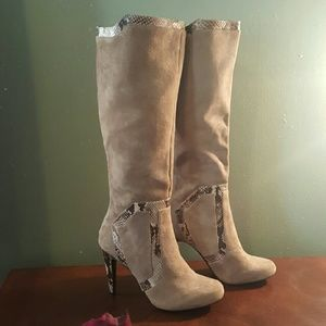 Calvin Klein Suede Tall Boot