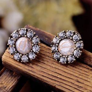 Pastel pink vintage stud earrings