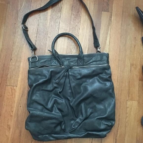 crate & barrel Handbags - Grey leather cross body bag
