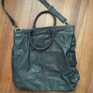 crate & barrel Bags - Grey leather cross body bag