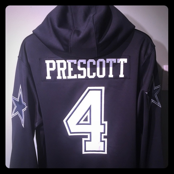 info for 9037c c128c Dak Prescott Dallas Cowboys Jersey Hoodie NWT