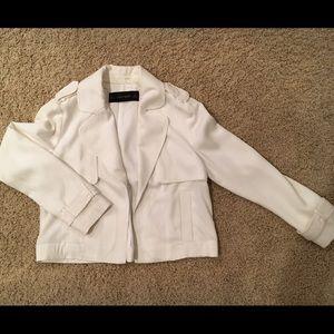 Zara white short trench/blazer style jacket